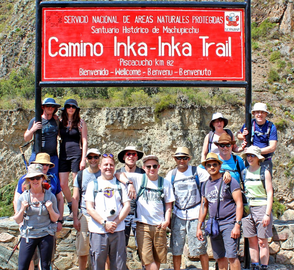 Inca Trail in group