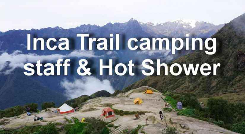 inca trail hot shower
