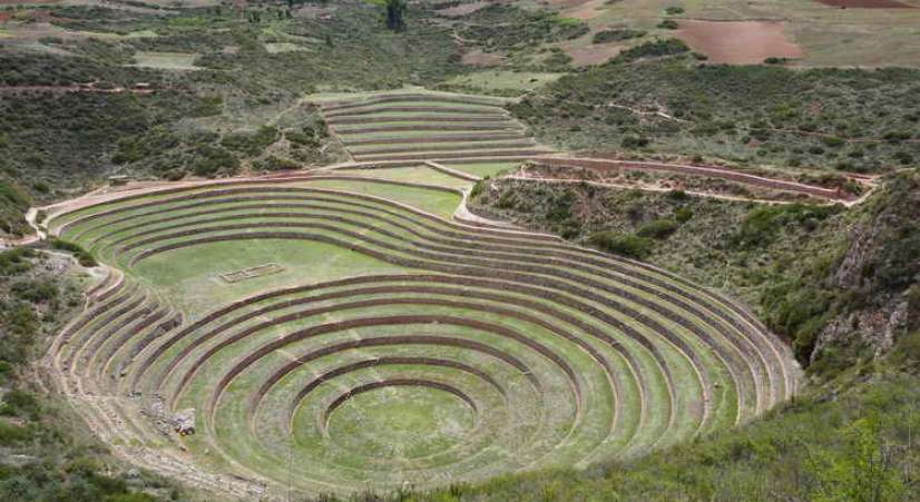 moray inca experimentation place Machu Picchu hike with Sacred Valley Tour 2 Days